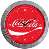 COCA-COLA WAVE 15 Inch Neon Clock