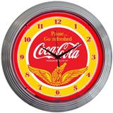 COCA-COLA WINGS 15 Inch Neon Clock
