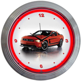 FORD MUSTANG BOSS 302 15 Inch Neon Clock