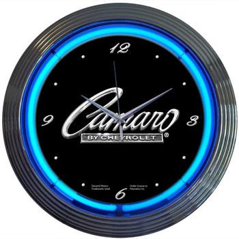 Gm Camaro Script 15 Inch Neon Clock