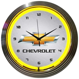 Gm Chevrolet Yellow 15 Inch Neon Clock