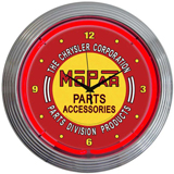 Mopar Red Vintage 15 Inch Neon Clock