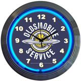 Gm Oldsmobile Service 15 Inch Neon Clock