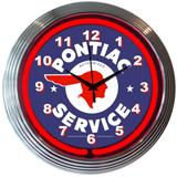 Gm Pontiac Service 15 Inch Neon Clock