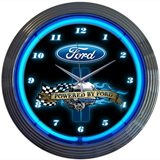 Powered By Ford 15 Inch Neon Clock