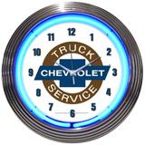 Chevy Truck 15 Inch Neon Clock