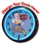 20 Inch Custom Sign - Design Your Own Neon Clock Here