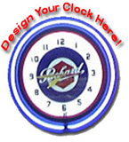 24 Inch Custom Sign - Design Your Own Neon Clock Here