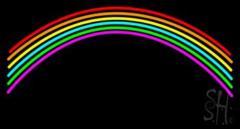 Rainbow Blank Neon Sign