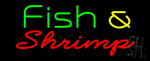 Green Fish & Shrimp Neon Sign