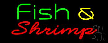Green Fish & Shrimp Neon Sign