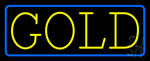 Yellow Gold Blue Border Neon Sign