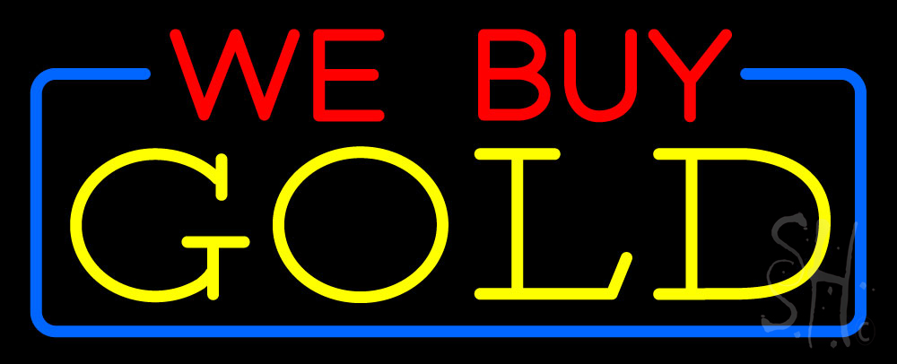 We Buy Gold Neon Signs - Every