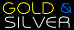 Yellow Gold & Silver Neon Sign