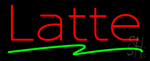 Red Latte Green Line Neon Sign