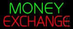 Green Money Exchange Neon Sign