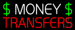 Money Transfers Dollar Logo Neon Sign