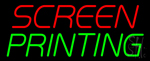 Screen Printing Neon Sign