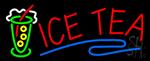 Ice Tea Logo Neon Sign