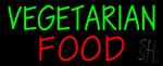 Vegetarian Food Neon Sign