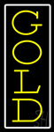 Vertical Yellow Gold White Border Neon Sign