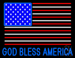 God Bless America Neon Sign