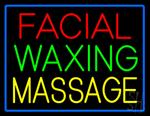 Facial Waxing Massage Neon Sign