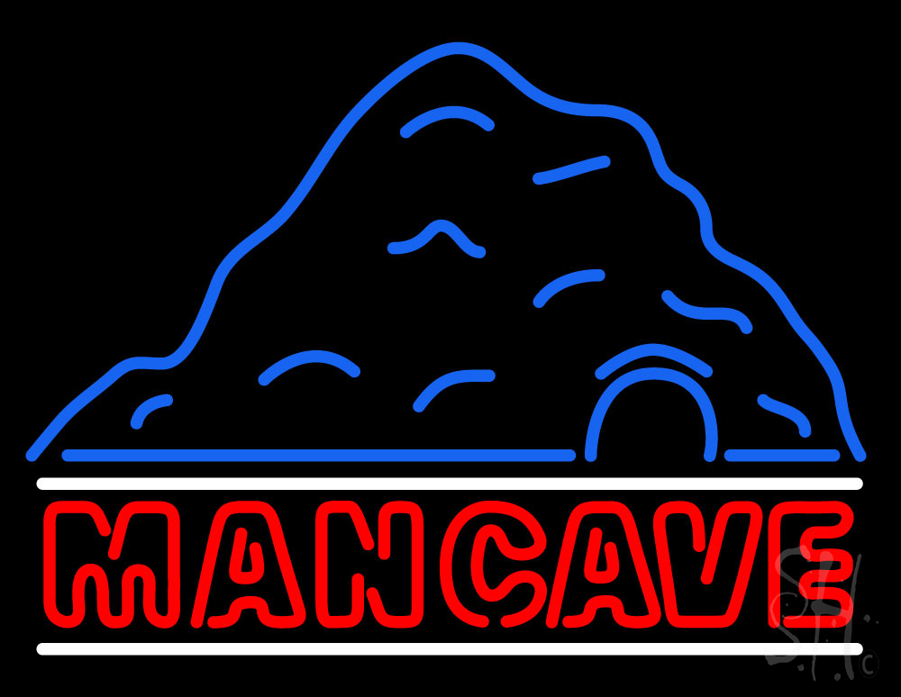 cave man neon sign signs