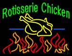 Green Rotisserie Chicken Neon Sign