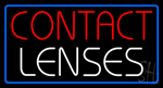 Contact Lenses Blue Border Neon Sign
