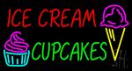 Ice Cream Cupcakes Neon Sign