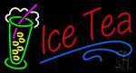 Ice Tea Blue Line Logo Neon Sign