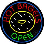 Hot Bagels Neon Sign