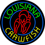 Louisiana Crawfish Neon Sign