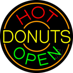 Hot Donuts Neon Sign