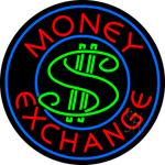 Round Money Exchange Neon Sign
