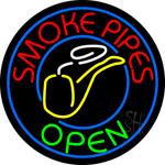 Smoke Pipes Open Circle Neon Sign