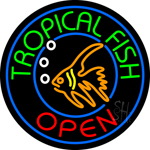 Tropical Fish Open Neon Sign