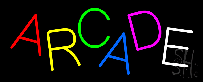 Multicolored Arcade Neon Sign Games Neon Signs Every