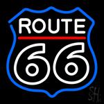 White Route 66 Neon Sign