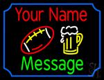 Custom Beer Glass And Baseball Neon Sign