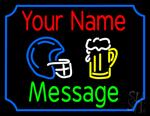 Custom Beer Glass And Helmet Neon Sign