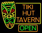 Tiki Hut Tavern Bar Neon Sign