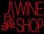 Wine Shop With Bottle and Glass LED Neon Sign