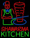 Shawarma Kitchen Logo Neon Sign