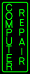 Vertical Computer Repair Neon Sign