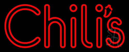 Double Stroke Red Chilis Neon Sign