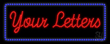 Custom Blue Rectangle Led Sign