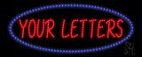 Custom Blue Oval Led Sign