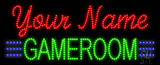 Custom Green Gameroom Led Sign